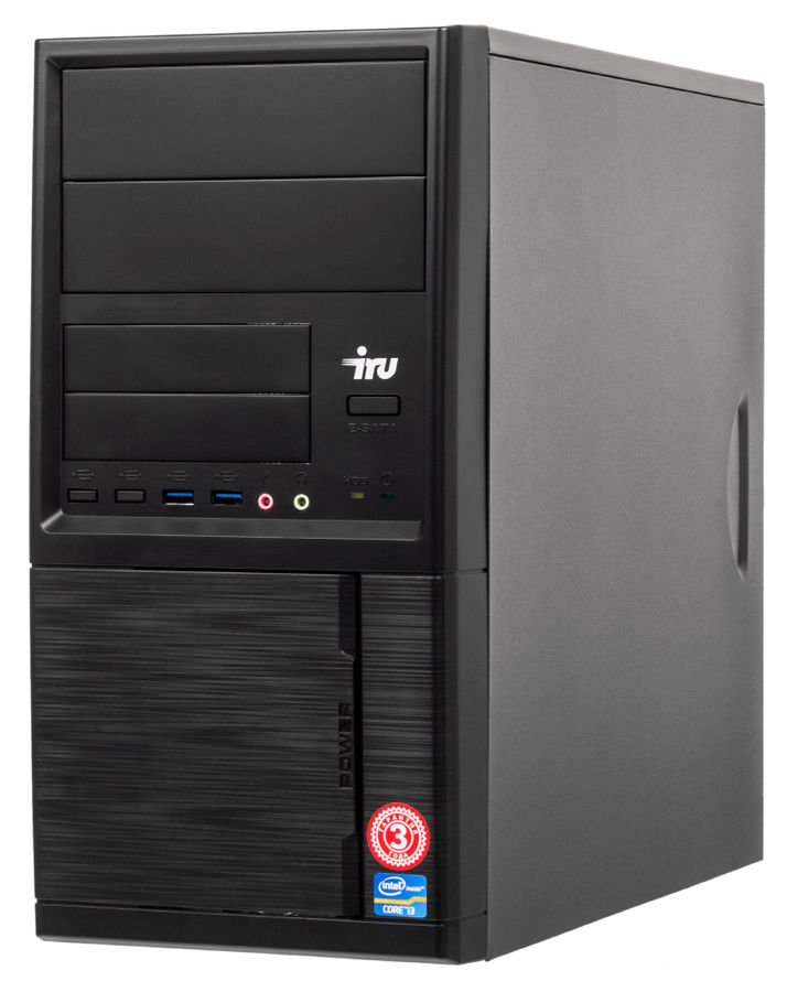 Компьютер  IRU Office 511,  Intel  Core i5  7400,  DDR4 4Гб, 1Тб,  Intel HD Graphics 630,  Windows 10 Professional,  черный [475724]