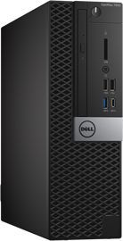 Компьютер DELL Optiplex 7050, Intel Core i7 7700, DDR4 8Гб, 1000Гб, Intel HD Graphics 630, DVD-RW, Windows 10 Professional, черный и серебристый [7050-8336] компьютер dell optiplex 7050 intel core i5 6500t ddr4 8гб 1000гб intel hd graphics 530 windows 10 professional черный [7050 2592]