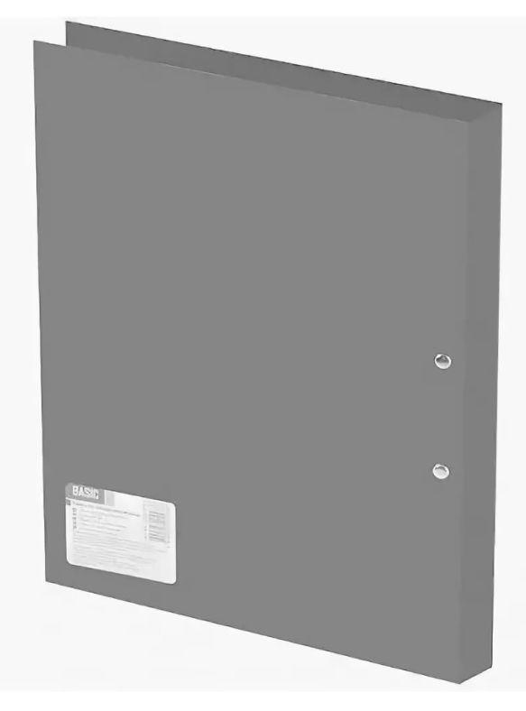 Папка с пласт.скоросш. Silwerhof Basic 255072-11 A4 полипропилен 0.5мм серый