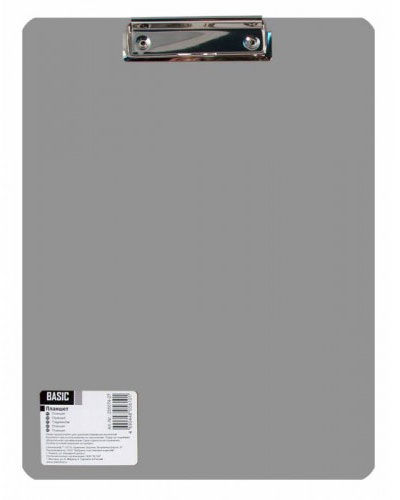 "Папка-планшет Silwerhof 255154-11 A4 полипропилен 1.5мм серый фактура ""песок"""