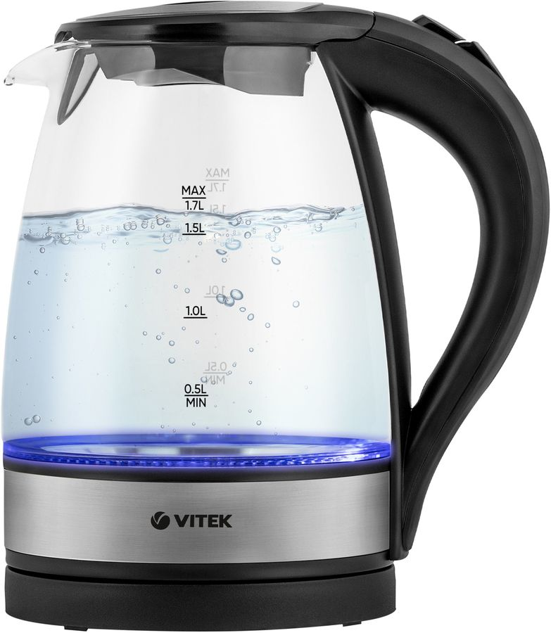 Чайник электрический VITEK VT-7008, 2200Вт, черный