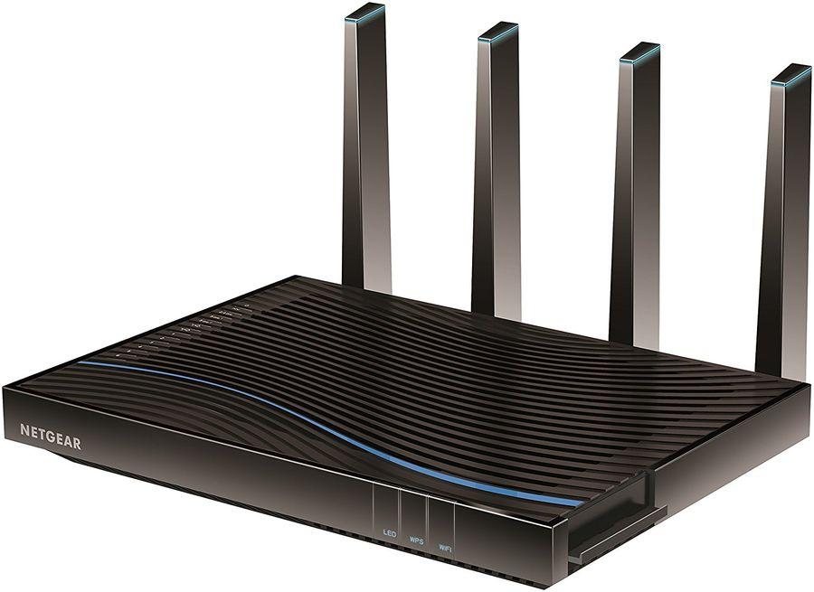 Беспроводной маршрутизатор NETGEAR Nighthawk X8,  ADSL 2/2+,  черный [d8500-100eus]