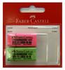 Ластик Faber-Castell 263397ДМ флуоресцентный блистер (2шт)