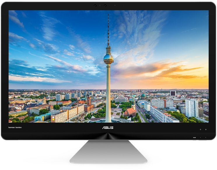 Моноблок ASUS ZN270IEUK-RA012T, Intel Core i5 7400T, 8Гб, 1000Гб, Intel HD Graphics 630, Windows 10, серый [90pt01r1-m00470]Моноблоки<br>экран 27, 1920 х 1080; процессор: Intel Core i5 7400T, 2.4 ГГц (3 ГГц, в режиме Turbo); оперативная память: SO-DIMM, DDR4 8192 Мб; видеокарта: Intel HD Graphics 630; HDD: 1000 Гб, 7200 об/мин, SATA; Web-камера; Wi-Fi; Bluetooth<br>