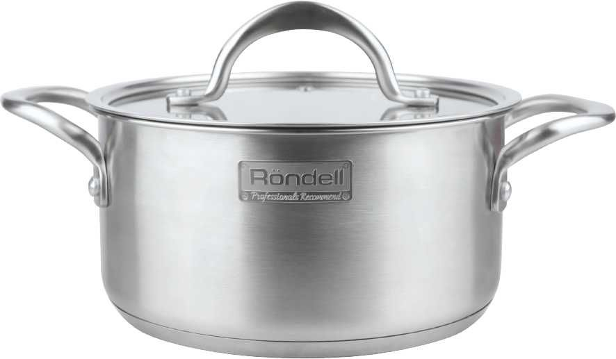 Кастрюля RONDELL Destiny 0728-RD-01, 1.8л, с крышкой,  серебристый