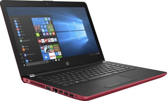 Ноутбук HP 14-bs015ur, 14, Intel Pentium N3710 1.6ГГц, 4Гб, 500Гб, Intel HD Graphics 405, Windows 10, 1ZJ60EA, красный ноутбук acer aspire a315 31 c3cw 15 6 intel celeron n3350 1 1ггц 4гб 500гб intel hd graphics 500 windows 10 черный [nx gnter 005]