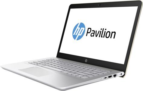 "Ноутбук HP Pavilion 14-bk007ur, 14"", Intel  Core i3  7100U 2.4ГГц, 6Гб, 1000Гб, 128Гб SSD,  Intel HD Graphics  620, Windows 10, 2CV47EA,  золотистый"