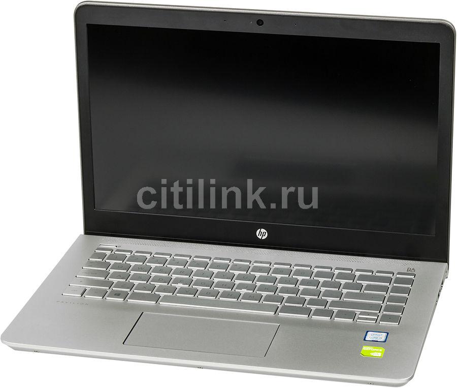 """Ноутбук HP Pavilion 14-bk008ur, 14"""", Intel  Core i5  7200U 2.5ГГц, 8Гб, 1000Гб, 128Гб SSD,  nVidia GeForce  940MX - 2048 Мб, Windows 10, 1ZD00EA,  темно-серебристый"""