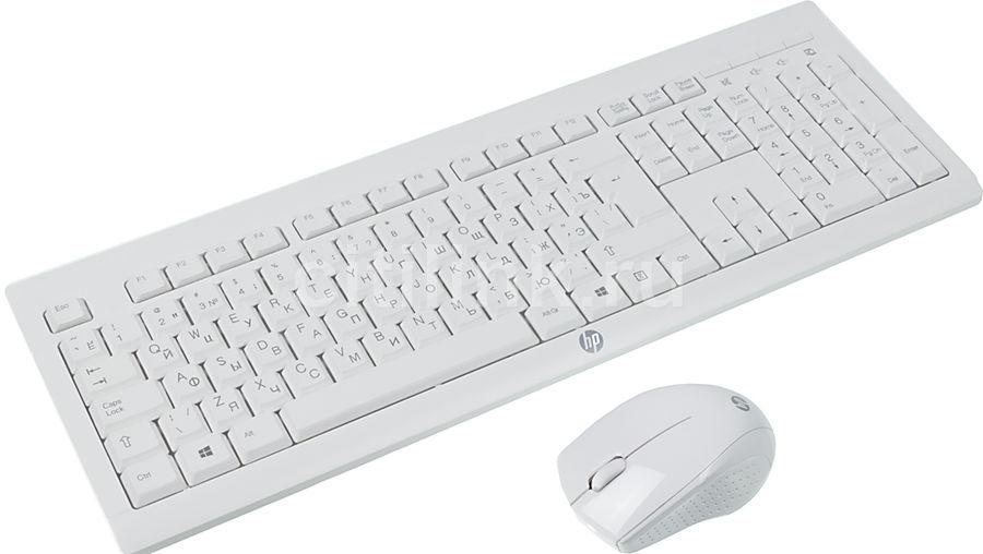 Комплект (клавиатура+мышь) HP C2710, USB, беспроводной, белый [m7p30aa]