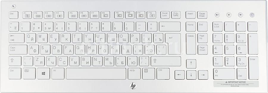 Клавиатура HP K5510,  USB, Радиоканал, белый [h4j89aa]