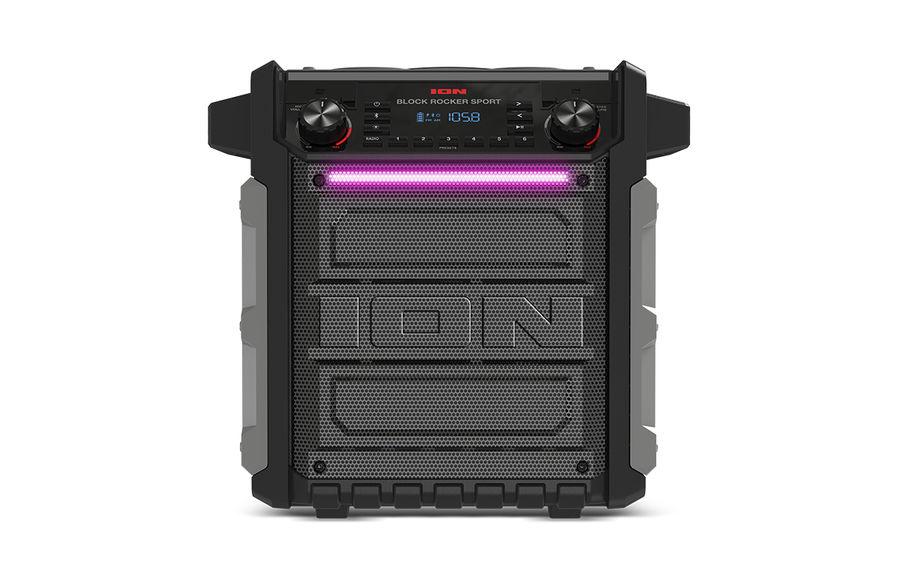Портативная колонка ION AUDIO BLOCK ROCKER SPORT,  100Вт, серый