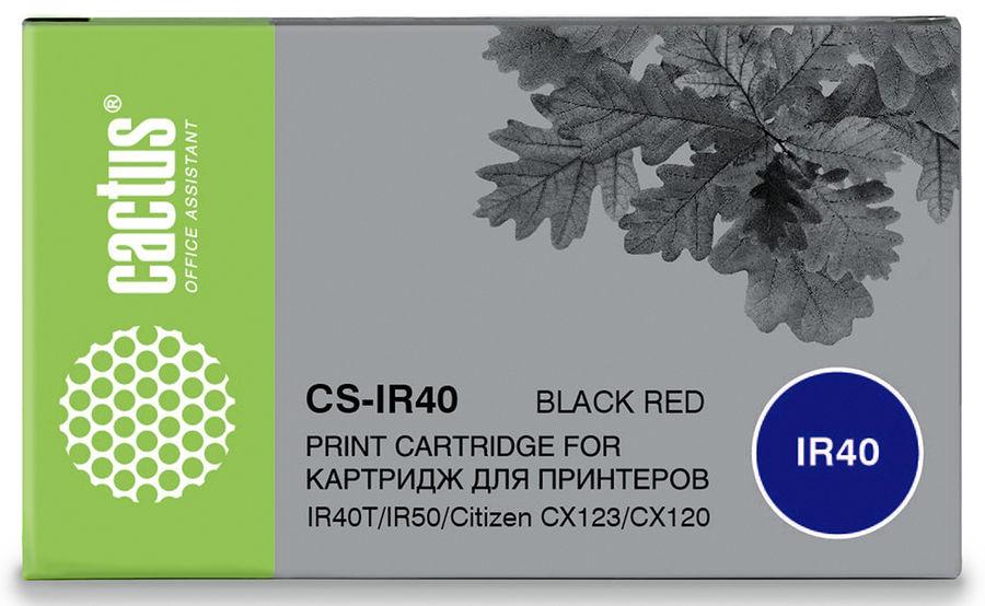 Картридж CACTUS CS-IR40, черный / красный