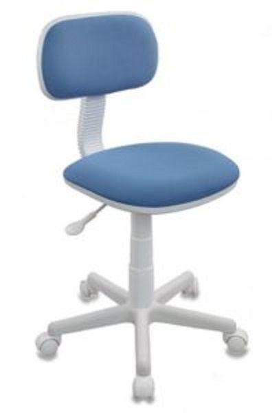 Кресло детское БЮРОКРАТ CH-W201NX, на колесиках, ткань, голубой [ch-w201nx/26-24]