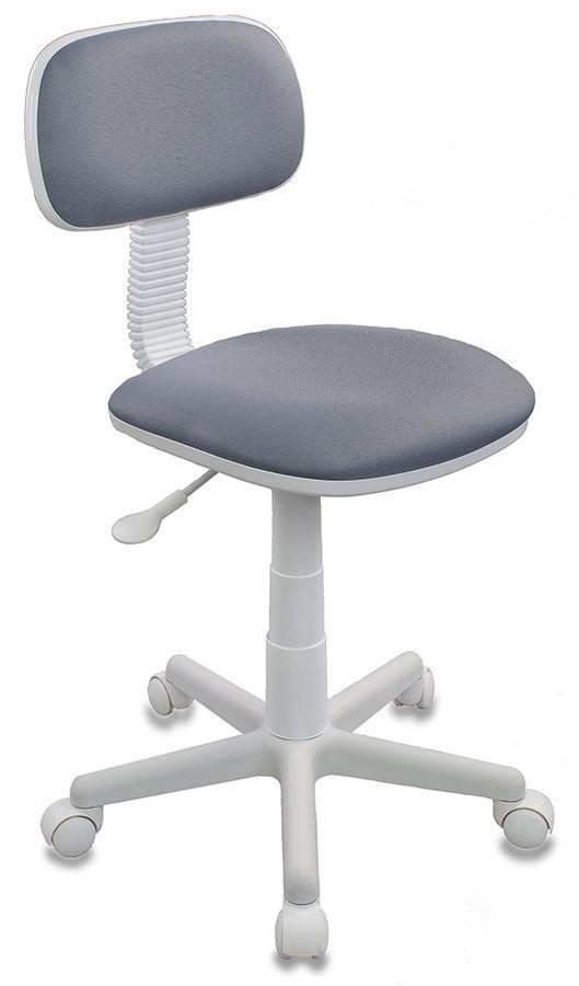 Кресло детское БЮРОКРАТ CH-W201NX, на колесиках, ткань, серый [ch-w201nx/15-48]