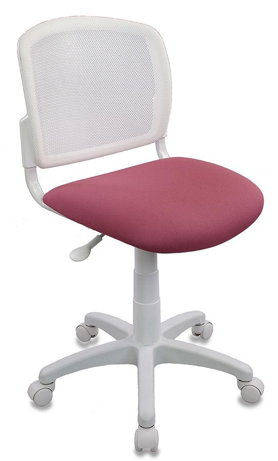 Кресло детское БЮРОКРАТ CH-W296NX, на колесиках, ткань, розовый [ch-w296nx/26-31]