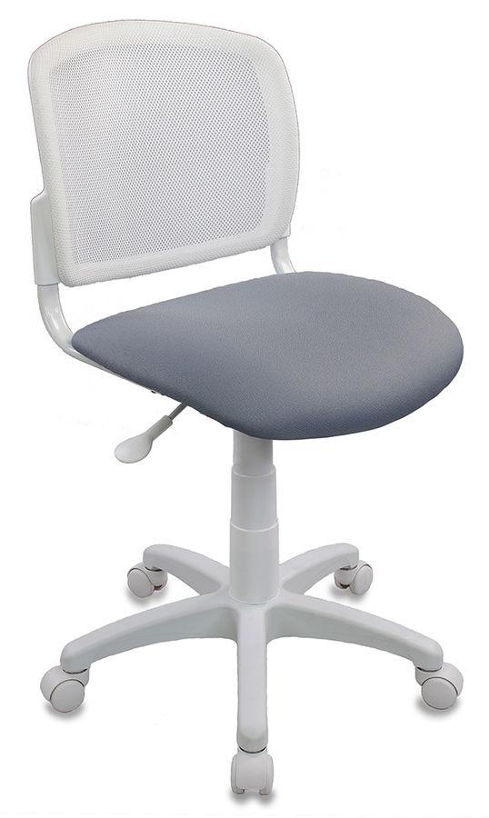 Кресло детское БЮРОКРАТ CH-W296NX, на колесиках, ткань, серый [ch-w296nx/15-48]