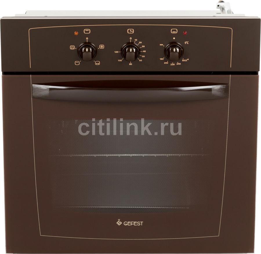 Духовой шкаф GEFEST ДГЭ 601-01 К,  коричневый