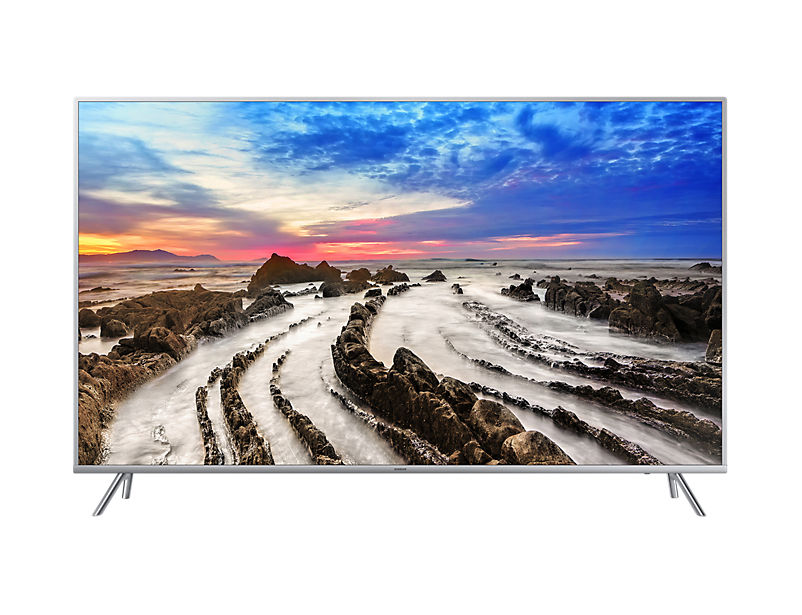 "LED телевизор SAMSUNG UE75MU7000UXRU  ""R"", 75"", Ultra HD 4K (2160p),  серебристый"