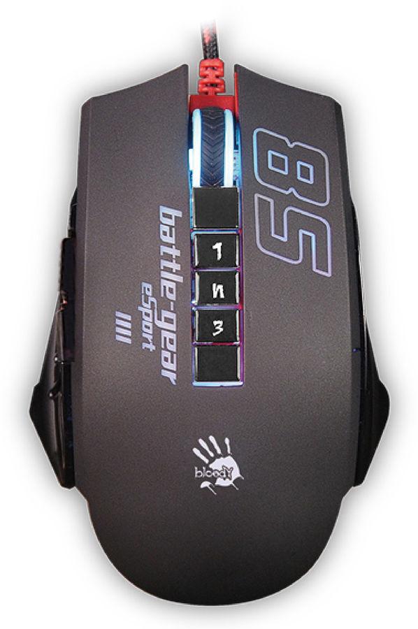 Мышь A4 Bloody P85 Sport оптическая проводная USB, черный [a4tech p85]