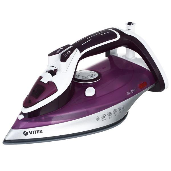 Утюг VITEK VT-1246 VT,  2400Вт,  фиолетовый/ белый [1246-vt-02]