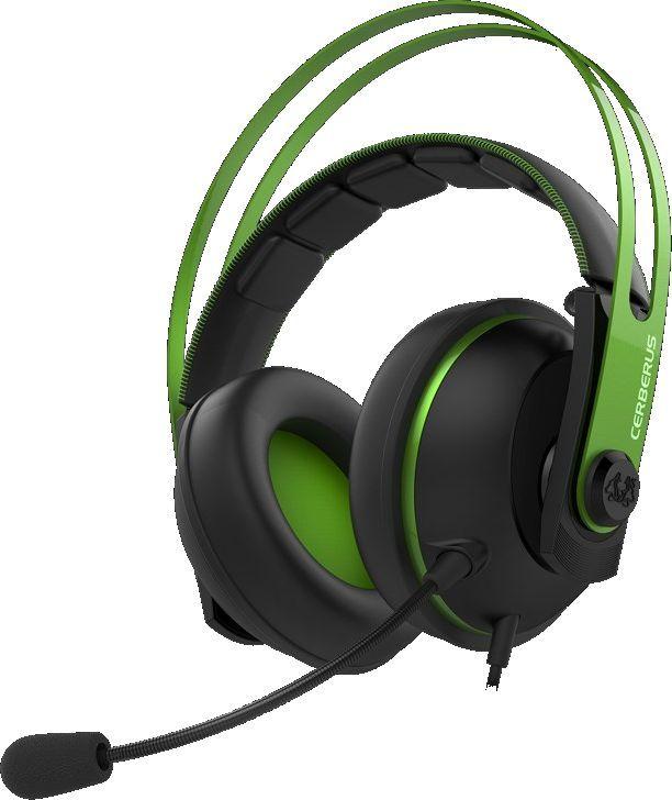 Наушники с микрофоном ASUS Cerberus V2,  мониторы, зеленый  / черный [90yh018g-b1ua00]