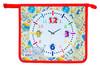 Папка для тетрадей Silwerhof 671901 Часы A5 240х205х40мм 1отд. пласт./лам.карт. на молнии вид 1