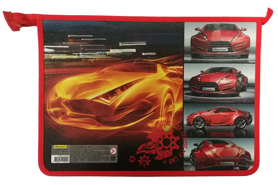Папка для тетрадей Silwerhof 671907 Машина в огне A4 340х245х40мм 1отд. пласт./лам.карт. на молнии