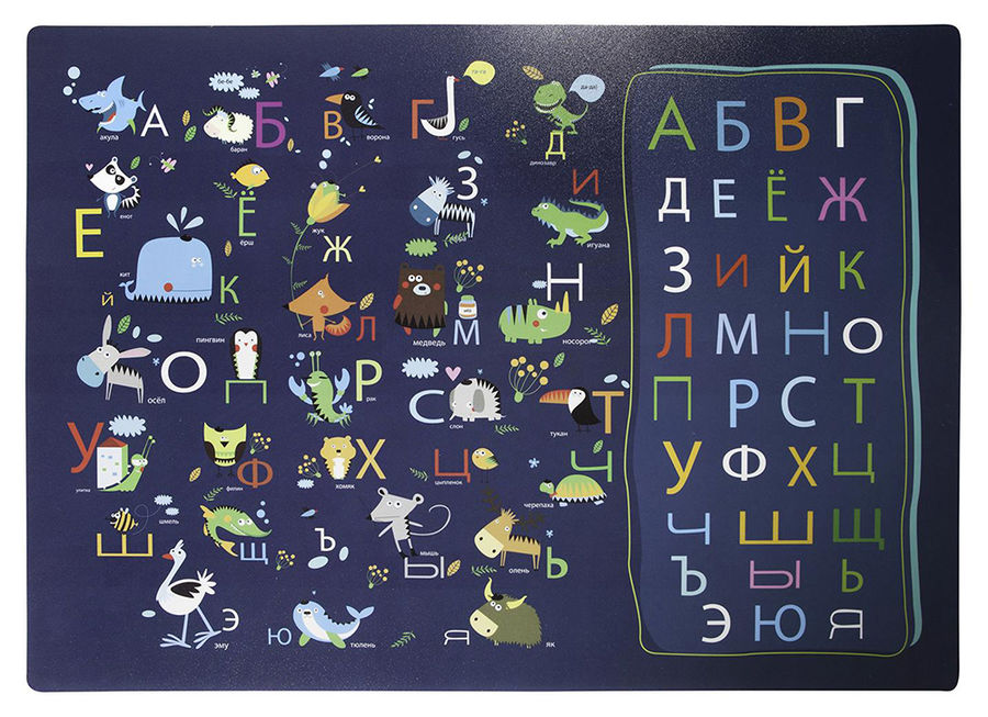 Накладка на стол Silwerhof 671615 Русский алфавит 330х460мм пластик 1мм