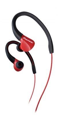 Наушники PIONEER SE-E3-R, вкладыши,  красный, проводные