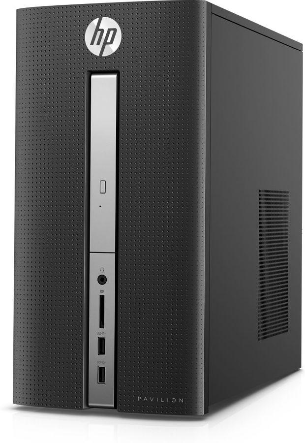 Компьютер  HP Pavilion 570-p000ur,  Intel  Pentium  G4560,  DDR4 4Гб, 1000Гб,  AMD Radeon R5 435 - 2048 Мб,  DVD-RW,  Windows 10,  черный [1gs75ea]
