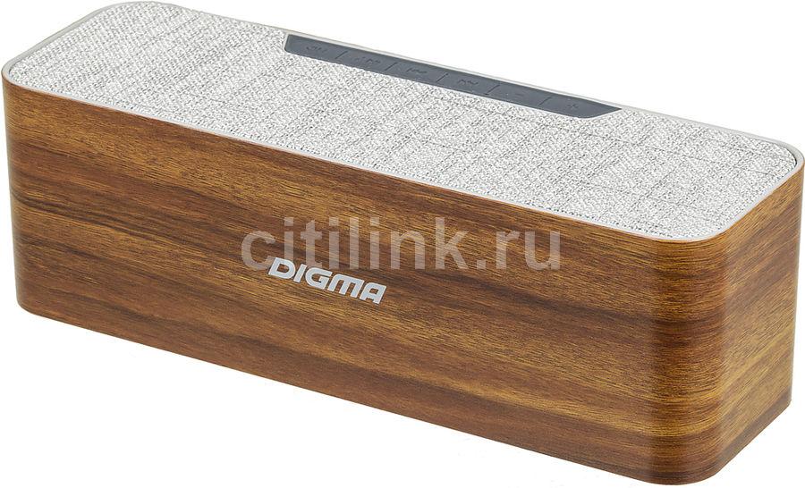 Портативная колонка DIGMA S-42,  10Вт, дерево  [sp4210br]