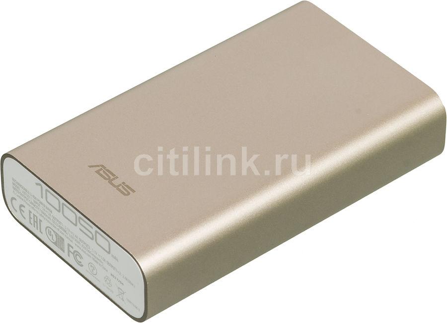 Внешний аккумулятор ASUS ZenPower ABTU011,  10050мAч,  золотистый [90ac0180-bbt018]