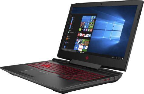 "Ноутбук HP Omen 17-an011ur, 17.3"", Intel  Core i7  7700HQ 2.8ГГц, 16Гб, 1000Гб, 128Гб SSD,  nVidia GeForce  GTX 1070 - 8192 Мб, DVD-RW, Windows 10, 1ZB19EA,  черный"
