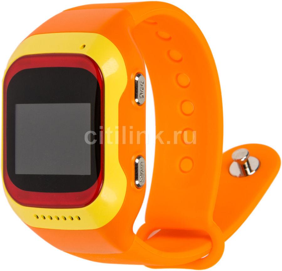 "Смарт-часы GINZZU GZ-501,  0.98"",  красный/желтый / оранжевый [00-00000846]"
