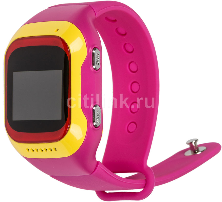 "Смарт-часы GINZZU GZ-501,  0.98"",  красный/желтый / розовый [00-00000891]"
