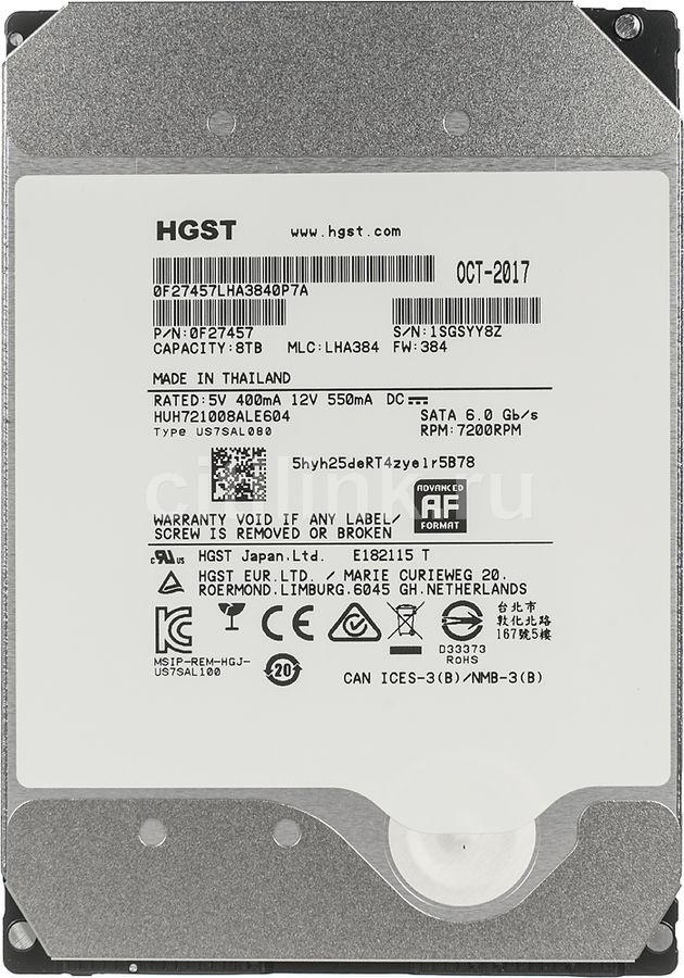 """Жесткий диск HGST Ultrastar HE10 HUH721008ALE604,  8Тб,  HDD,  SATA III,  3.5"""" [0f27457]"""