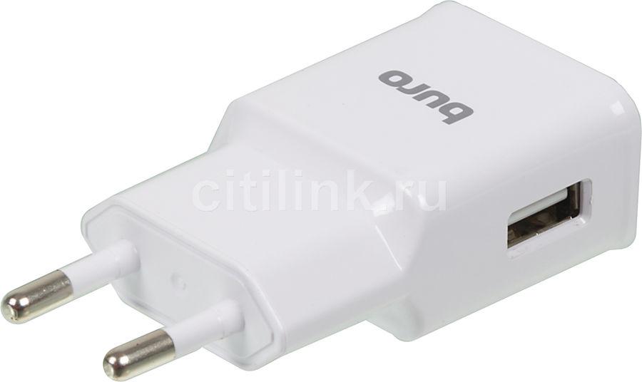 Сетевое зарядное устройство BURO TJ-248W QC 3.0,  USB,  2.4A,  белый