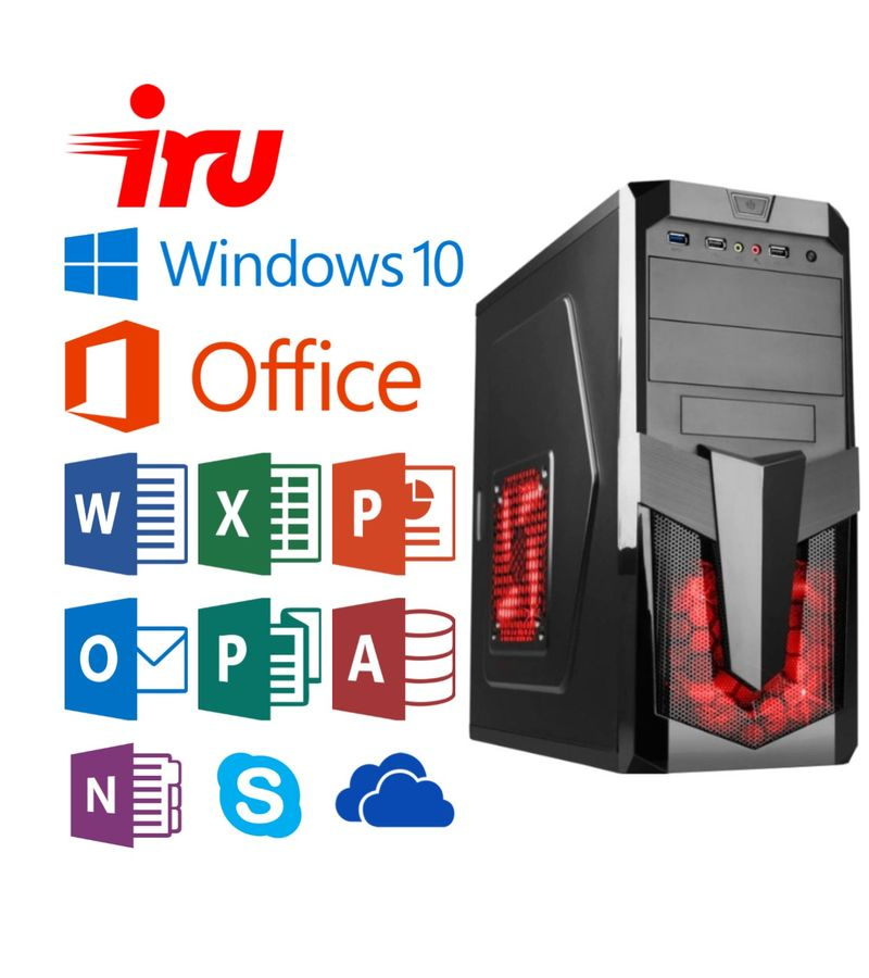 Компьютер  IRU City 511,  Intel  Core i5  7400,  DDR4 8Гб, 1Тб,  Intel HD Graphics 630,  Windows 10 Home,  черный,   +MSO 365 Personal [478621]