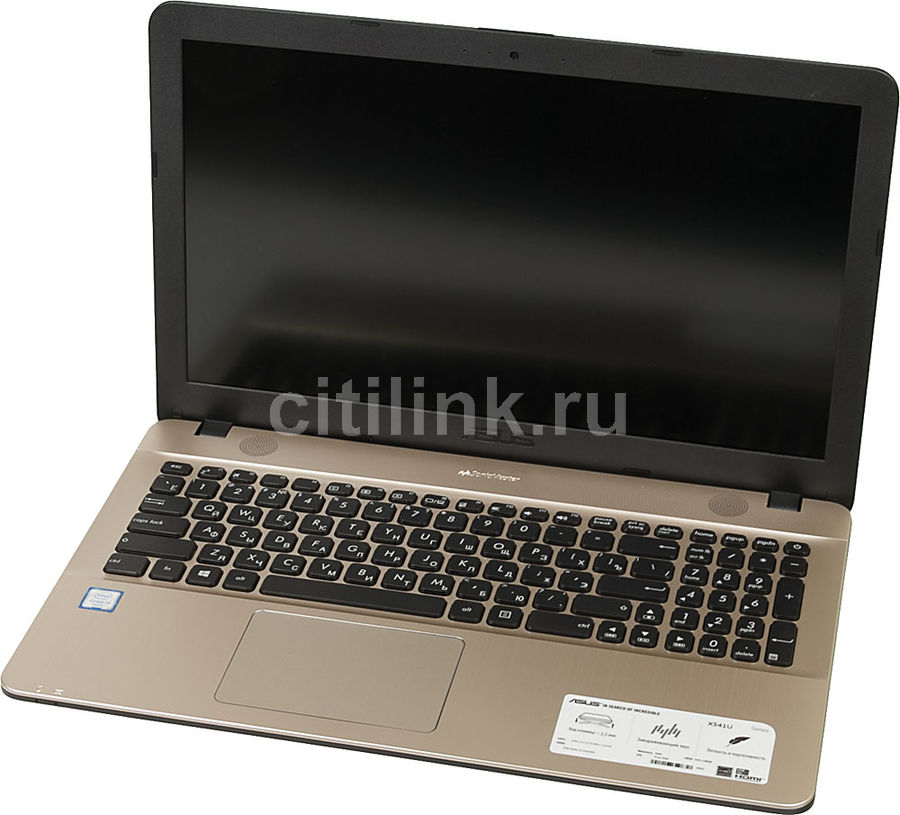 "Ноутбук ASUS X541UA-DM006D, 15.6"", Intel  Core i3  6100U 2.3ГГц, 4Гб, 128Гб SSD,  Intel HD Graphics  520, Free DOS, 90NB0CF1-M30500,  черный"