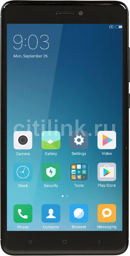 Смартфон XIAOMI Redmi Note 4 64Gb (Global version), черный смартфон xiaomi redmi note 4 64gb global version золотистый
