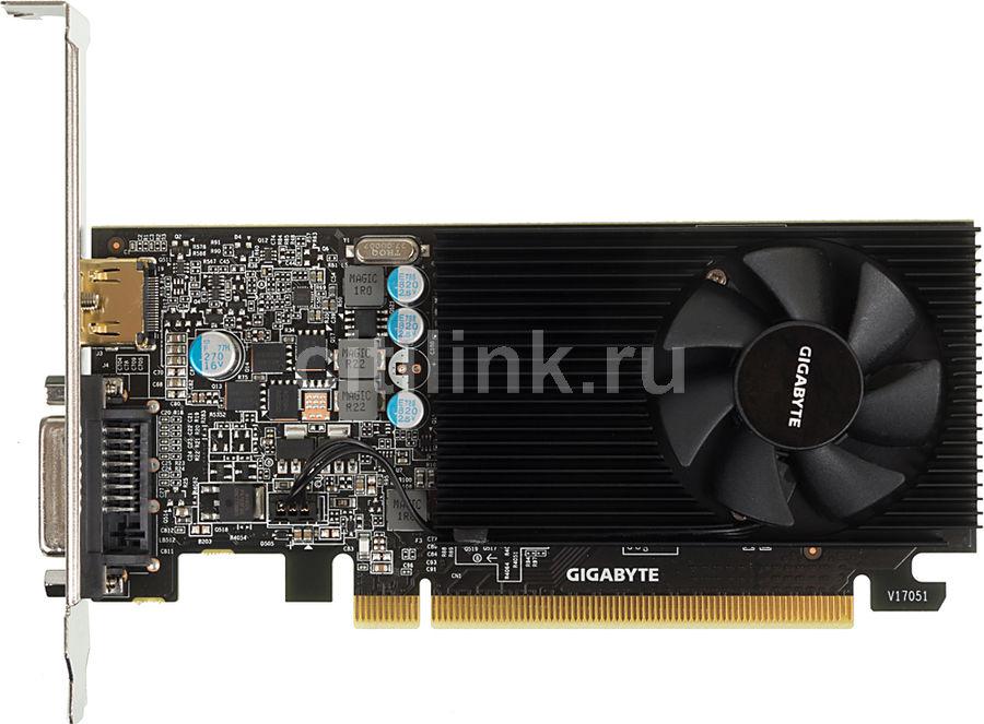 Видеокарта GIGABYTE nVidia  GeForce GT 1030 ,  GV-N1030D5-2GL,  2Гб, GDDR5, Ret