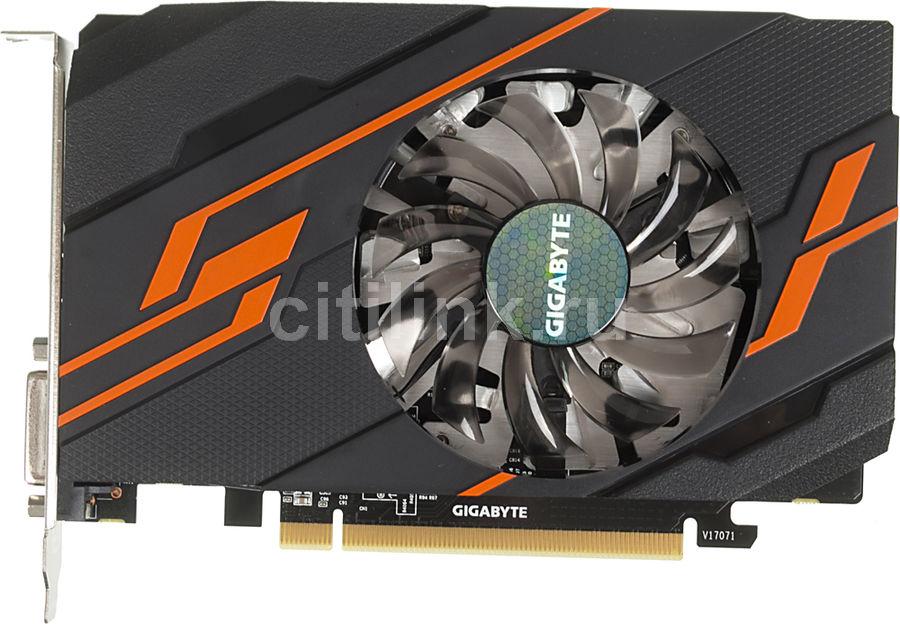 Видеокарта GIGABYTE nVidia  GeForce GT 1030 ,  GV-N1030OC-2GI,  2Гб, GDDR5, OC,  Ret
