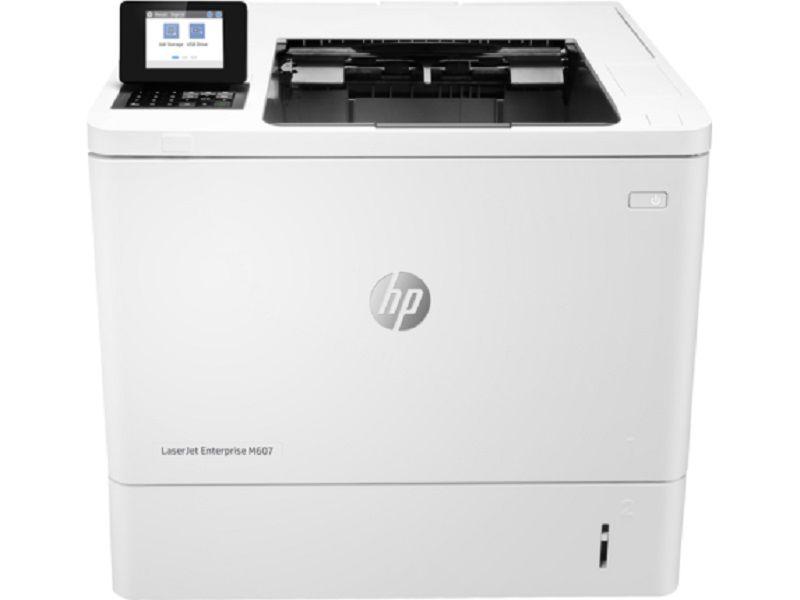 Принтер лазерный HP LaserJet Enterprise 600 M607dn лазерный, цвет:  белый [k0q15a]