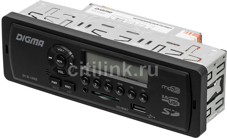 Автомагнитола DIGMA DCR-100B,  USB,  SD/MMC