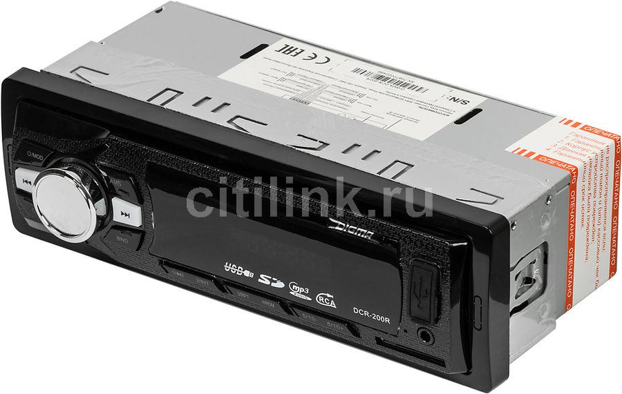 Автомагнитола DIGMA DCR-200R,  USB,  SD/MMC