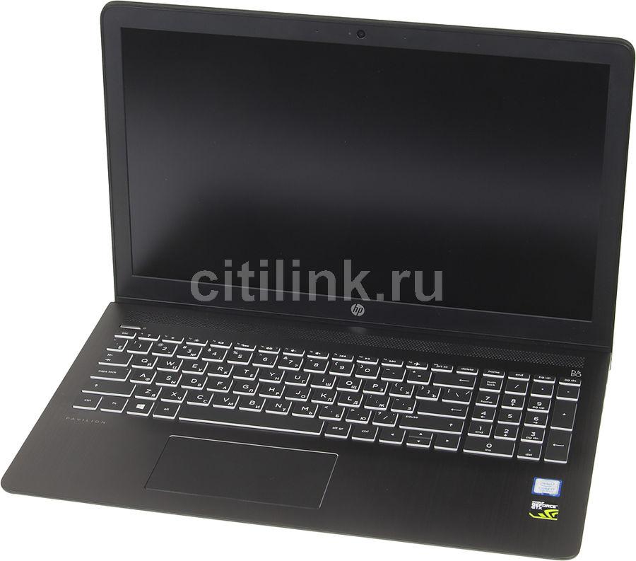 """Ноутбук HP Pavilion 15-cb008ur, 15.6"""", Intel  Core i7  7700HQ 2.8ГГц, 8Гб, 1000Гб, nVidia GeForce  GTX 1050 - 4096 Мб, Free DOS, 1ZA82EA,  темно-серый"""