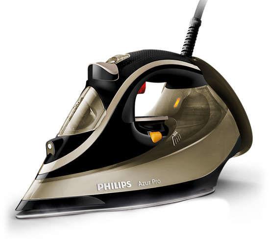 Утюг PHILIPS GC4879/00,  2800Вт,  черный/ золотистый