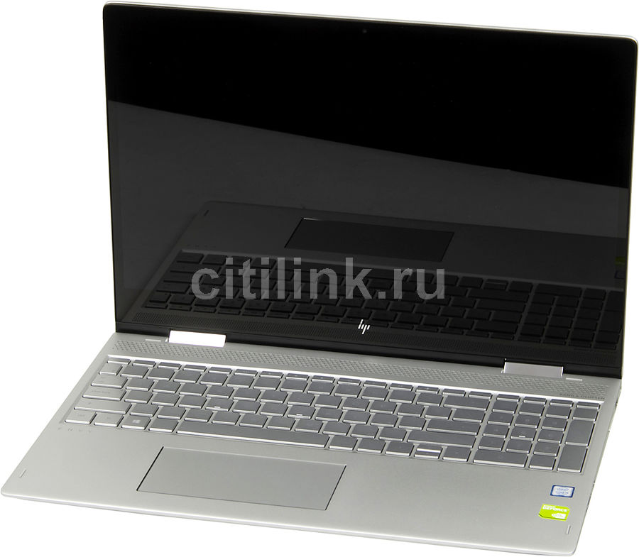 "Ноутбук-трансформер HP Envy x360 15-bp007ur, 15.6"", Intel  Core i5  7200U 2.5ГГц, 8Гб, 1000Гб, 128Гб SSD,  nVidia GeForce  940MX - 4096 Мб, Windows 10, 2FQ19EA,  серебристый"