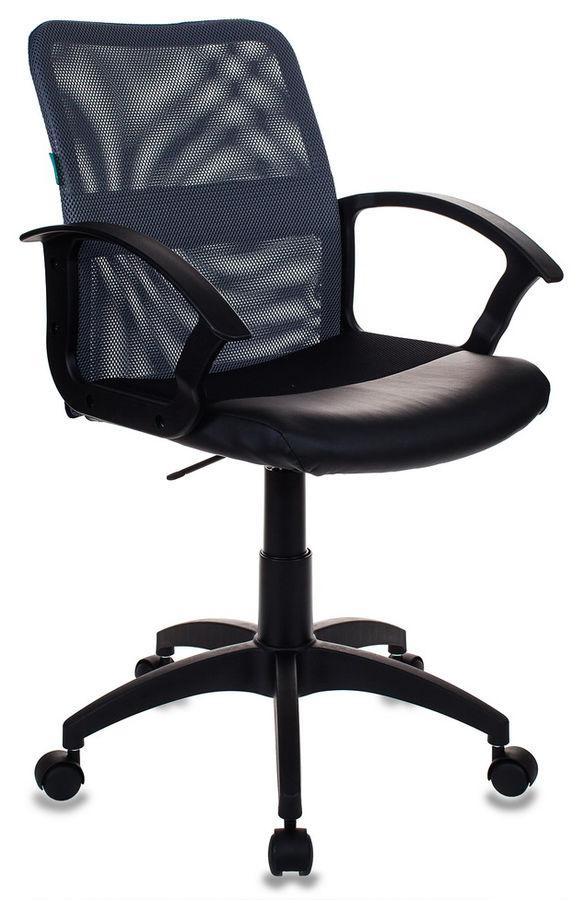 Кресло БЮРОКРАТ CH-590, на колесиках, искусственная кожа, серый [ch-590/dg/black]