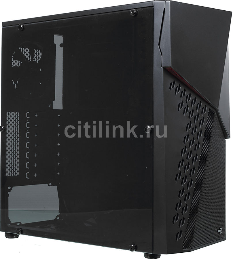 Корпус ATX AEROCOOL CyberX Advance, Midi-Tower, без БП,  черный